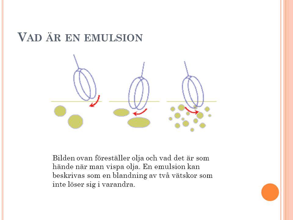Vad är en emulsion