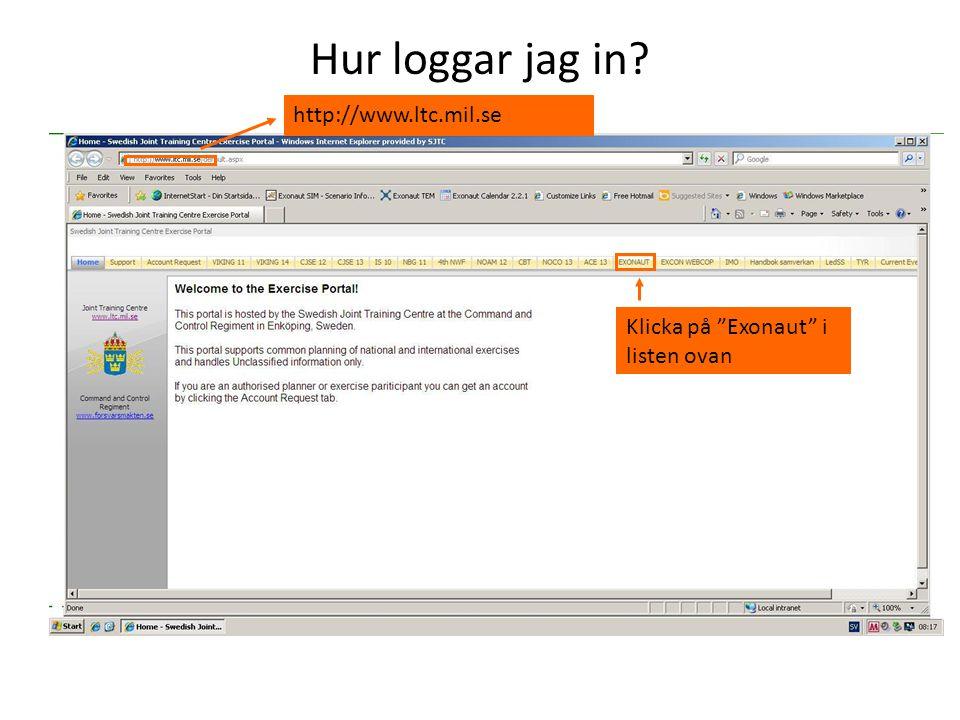 Hur loggar jag in http://www.ltc.mil.se