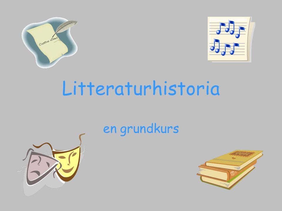 Litteraturhistoria en grundkurs
