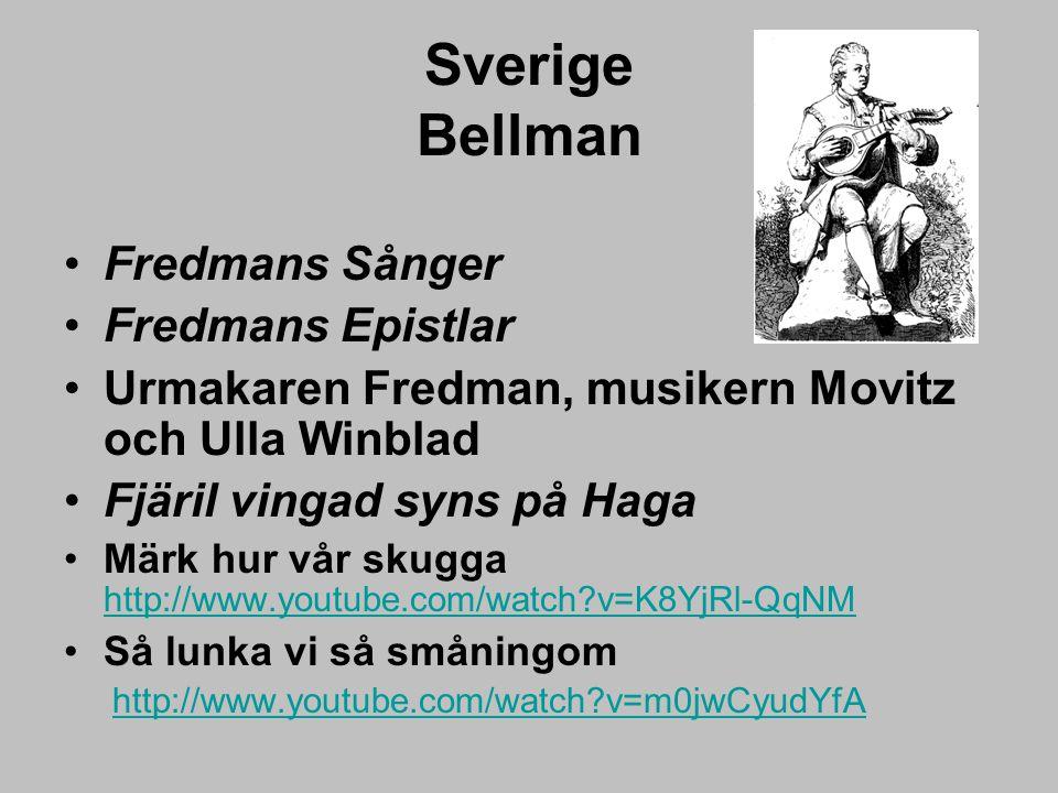 Sverige Bellman Fredmans Sånger Fredmans Epistlar