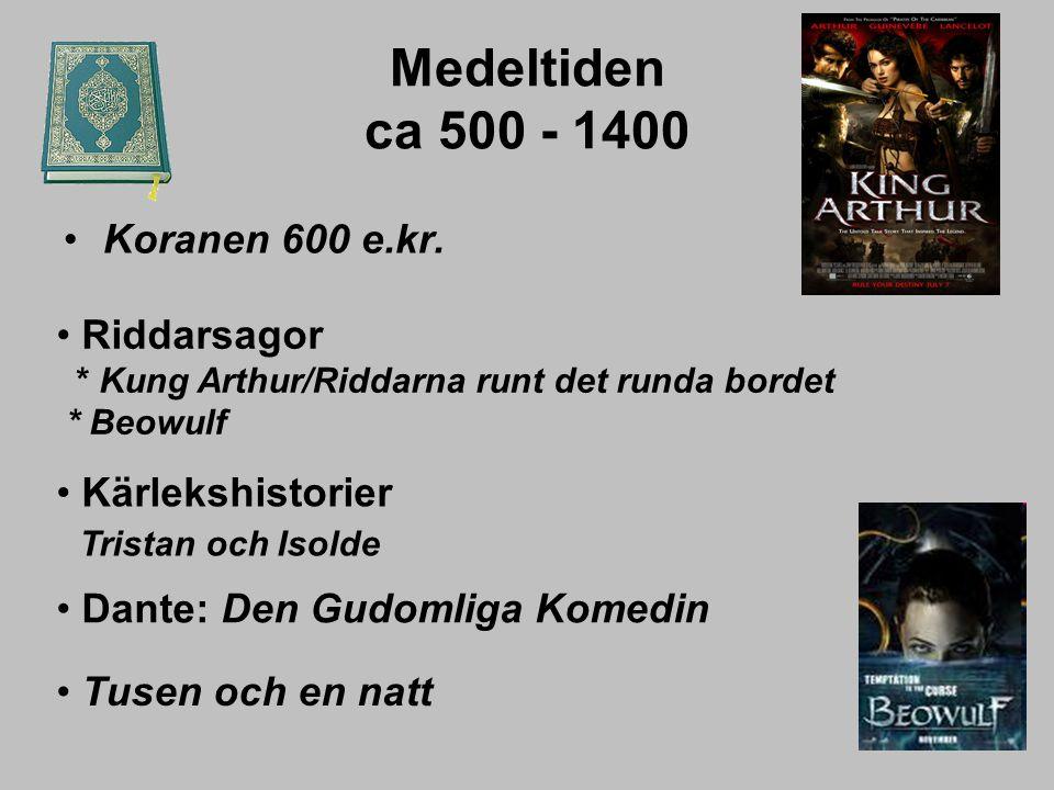 Medeltiden ca 500 - 1400 Koranen 600 e.kr.