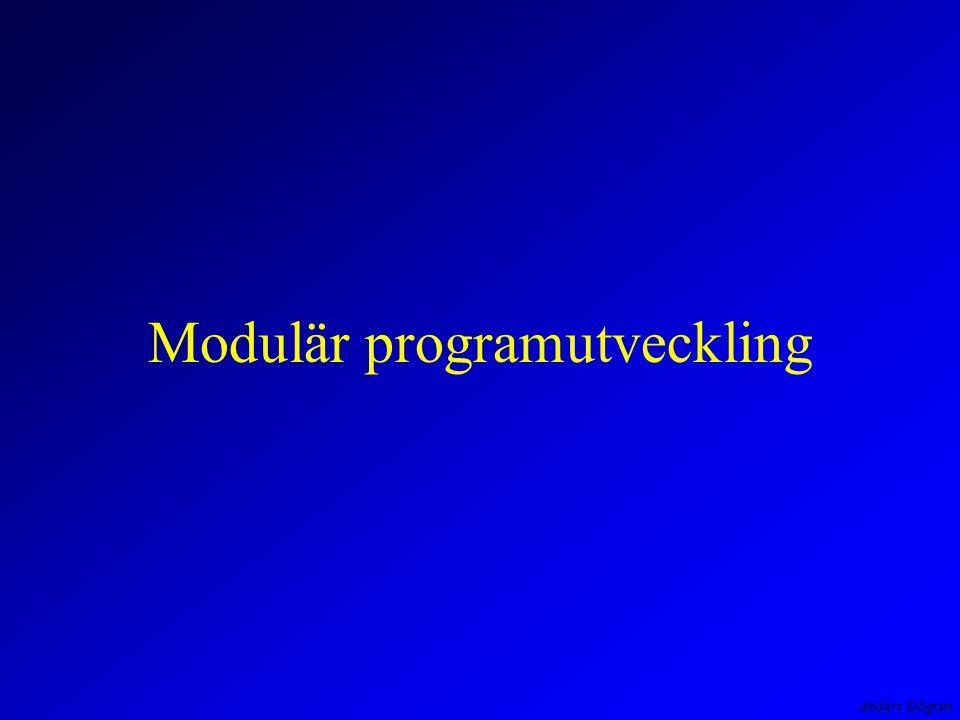 Modulär programutveckling
