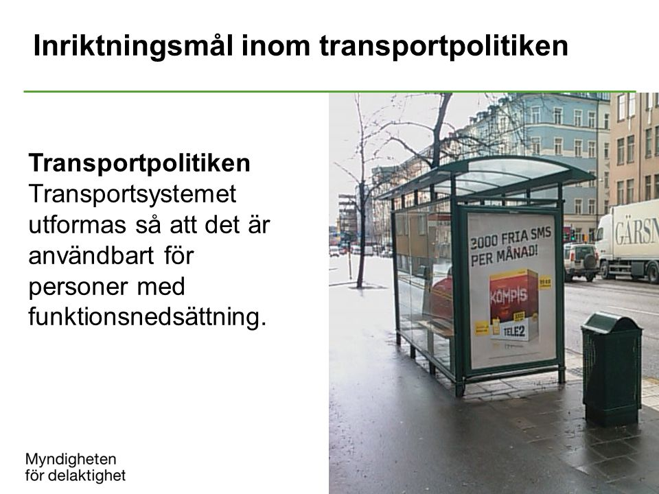 Inriktningsmål inom transportpolitiken