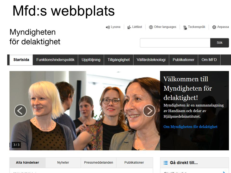 Mfd:s webbplats