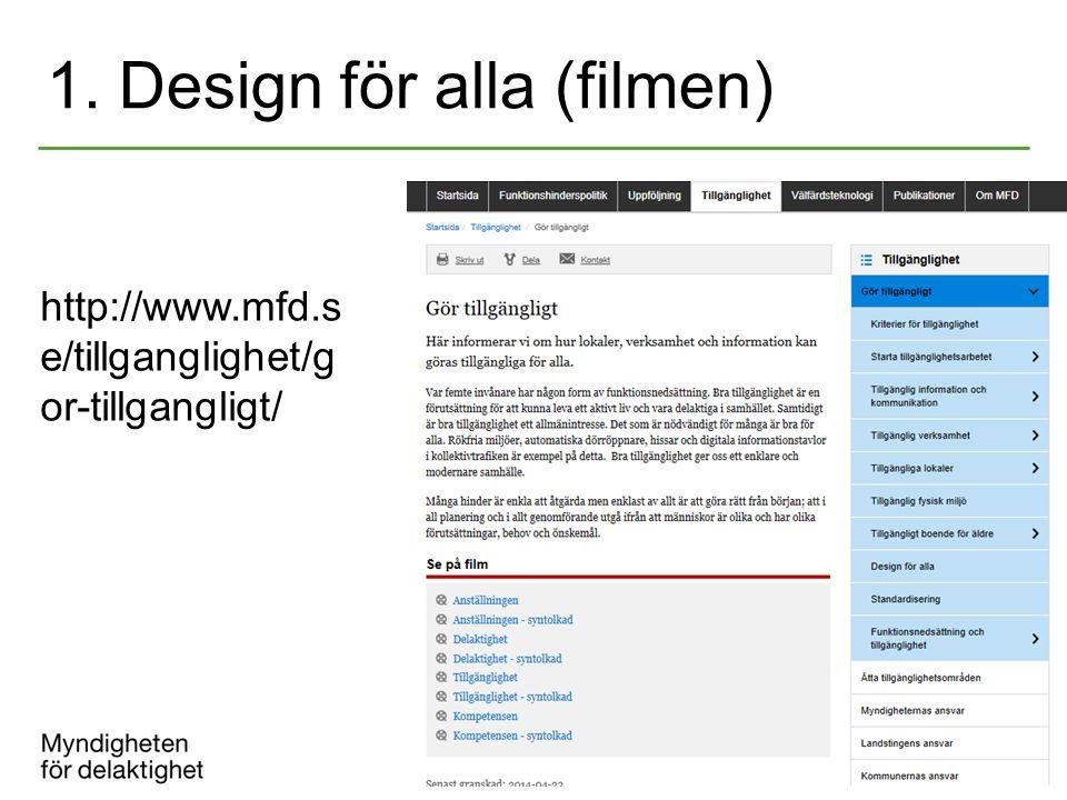 1. Design för alla (filmen)