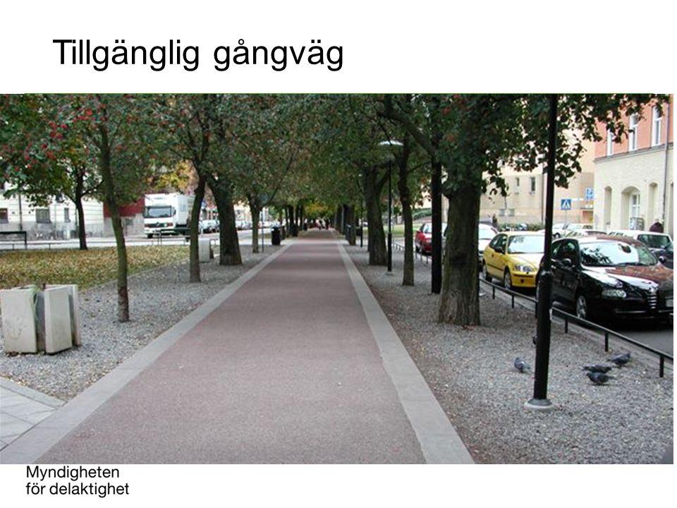 Tillgänglig gångväg Ka
