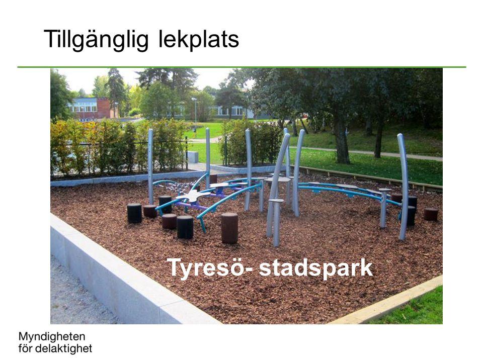 Tillgänglig lekplats Tyresö- stadspark