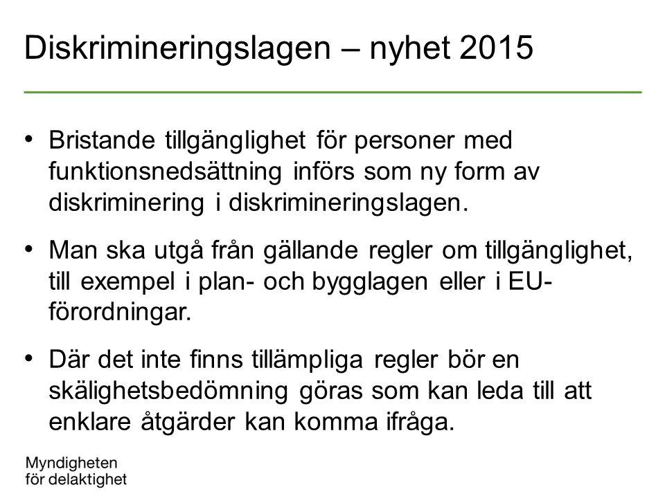 Diskrimineringslagen – nyhet 2015