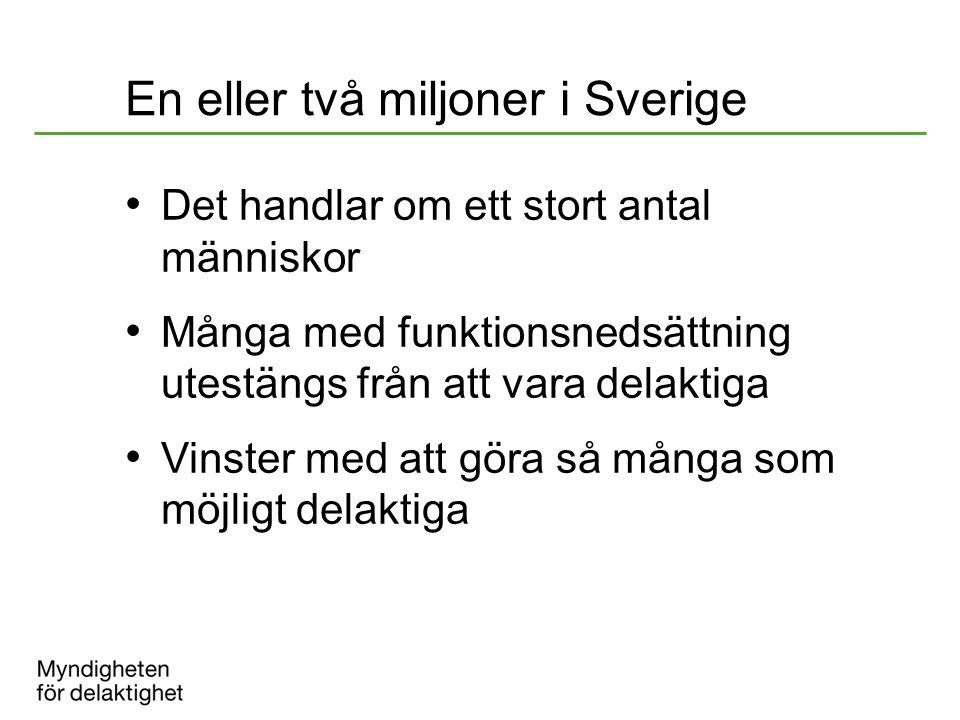 En eller två miljoner i Sverige