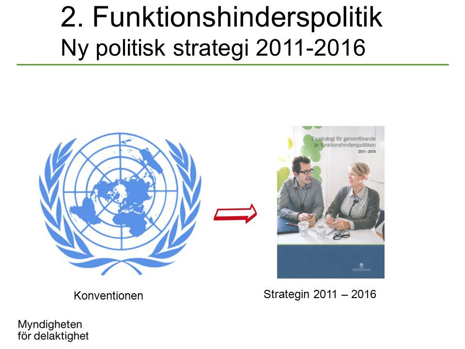 2. Funktionshinderspolitik Ny politisk strategi 2011-2016