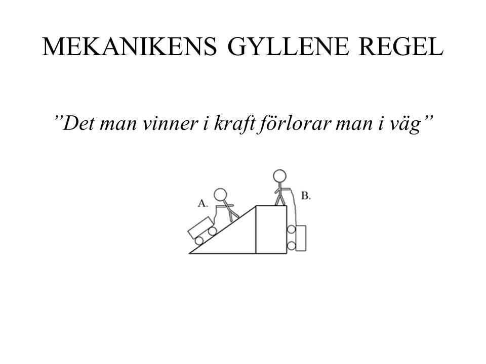 MEKANIKENS GYLLENE REGEL