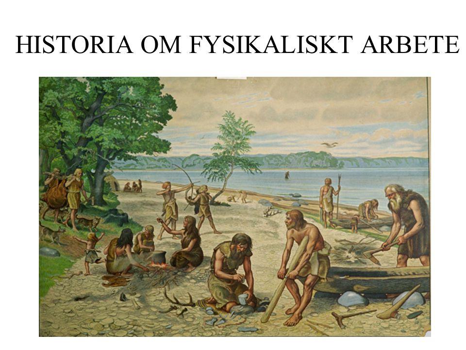 HISTORIA OM FYSIKALISKT ARBETE