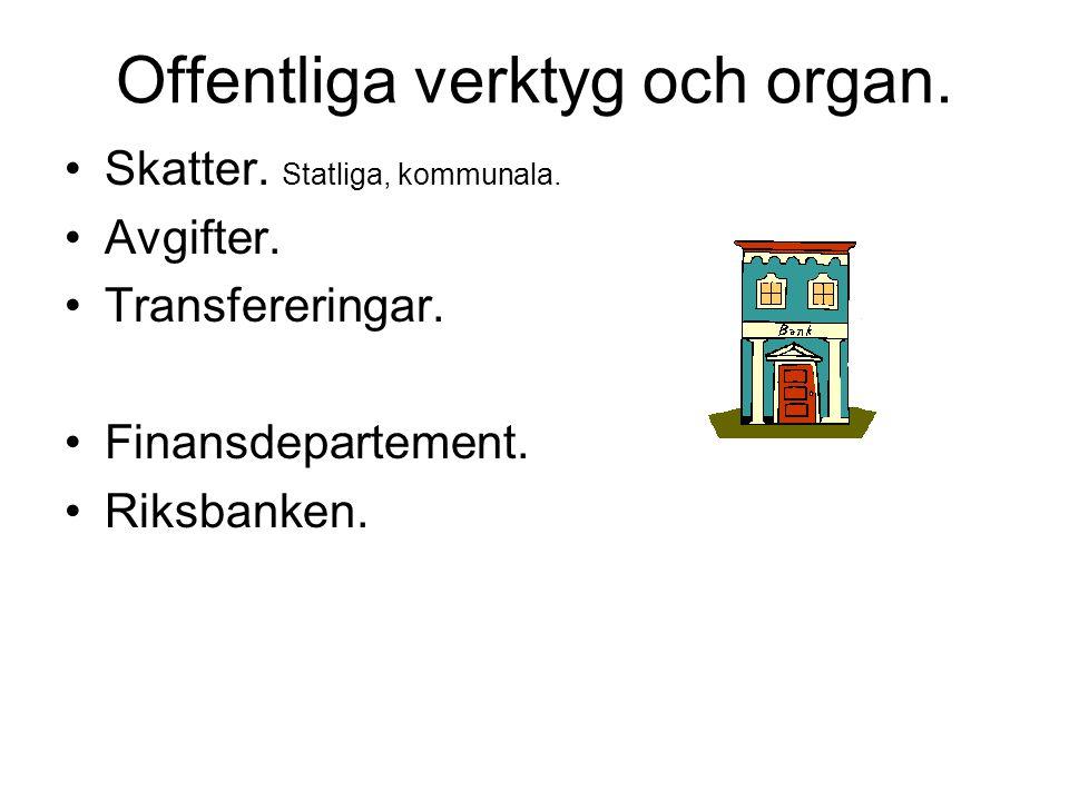 Offentliga verktyg och organ.