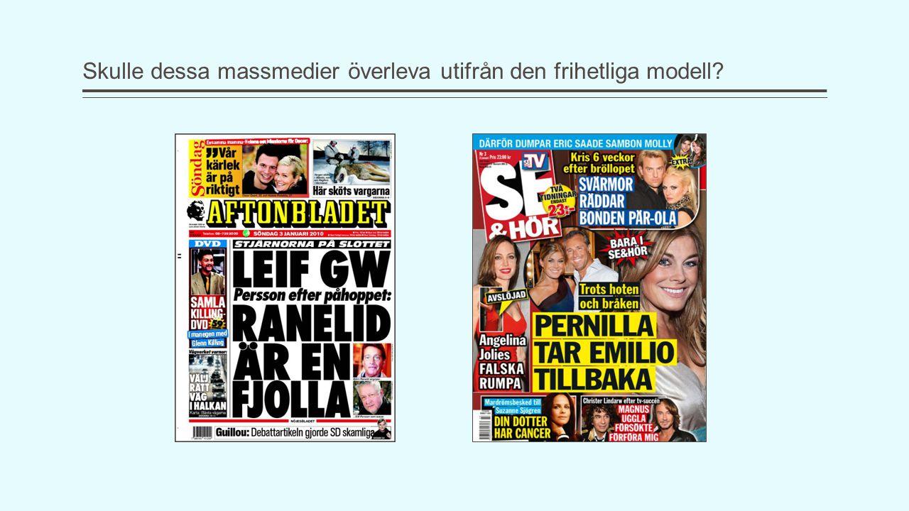 Skulle dessa massmedier överleva utifrån den frihetliga modell