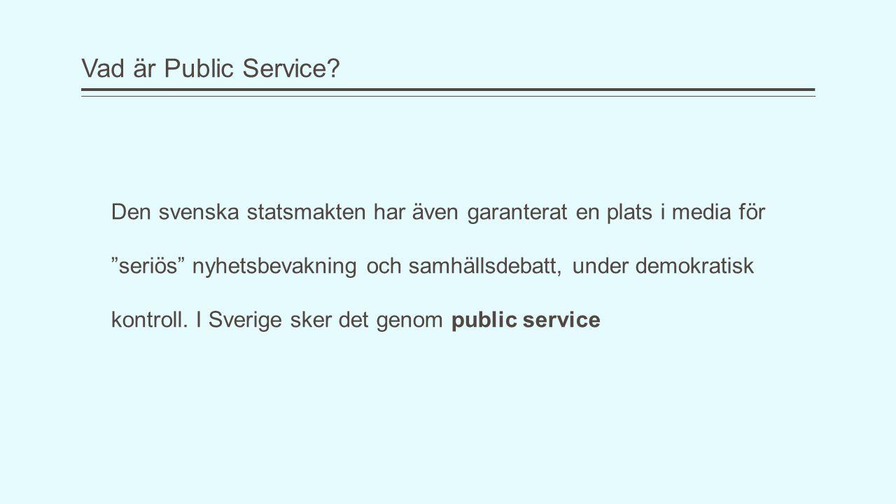 Vad är Public Service