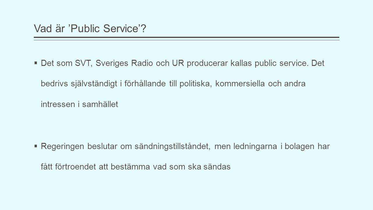 Vad är 'Public Service'