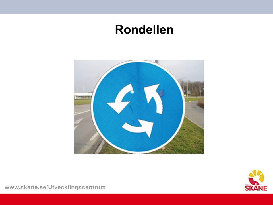 Rondellen Vi kör gärna i gamla spår och håller till vänster.