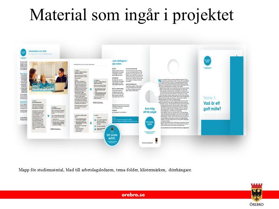 Material som ingår i projektet