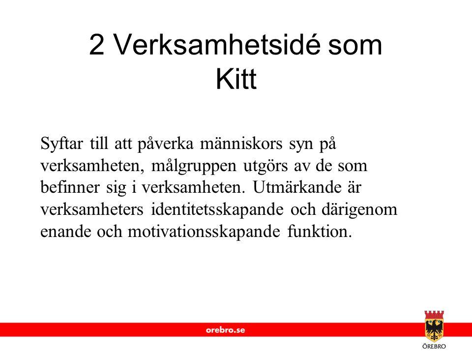 2 Verksamhetsidé som Kitt