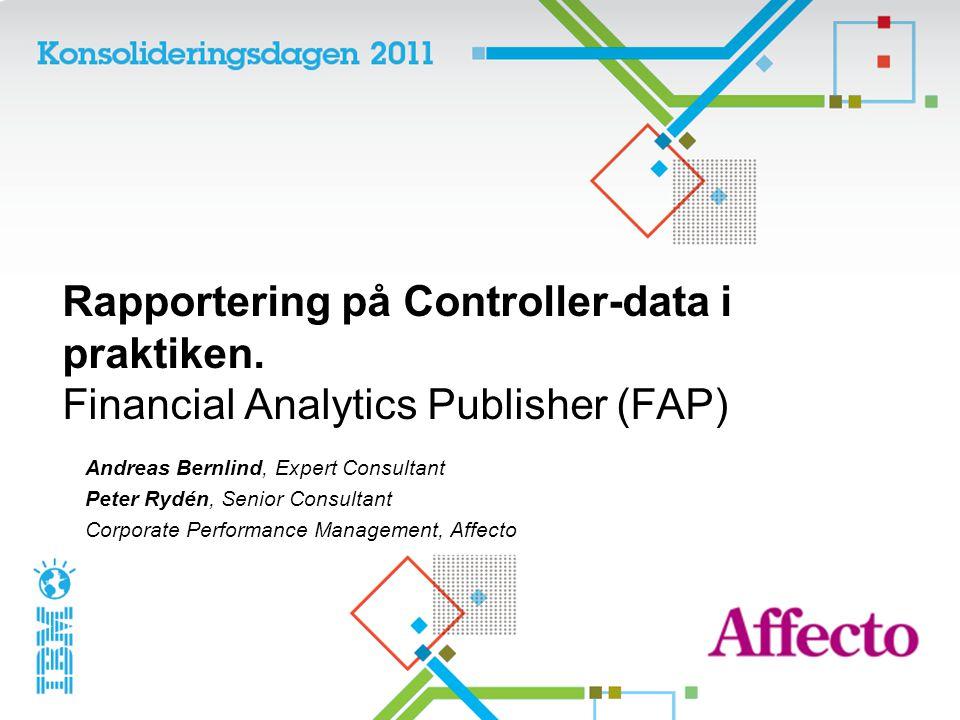 Rapportering på Controller-data i praktiken