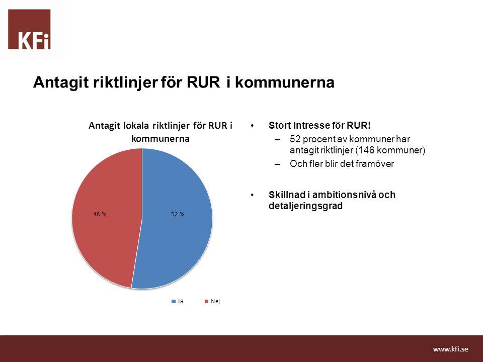 Antagit riktlinjer för RUR i kommunerna