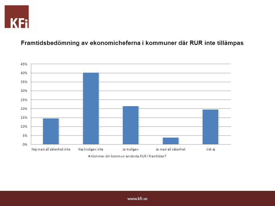 Framtidsbedömning av ekonomicheferna i kommuner där RUR inte tillämpas