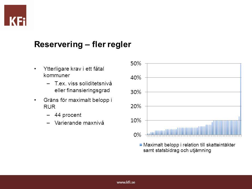 Reservering – fler regler