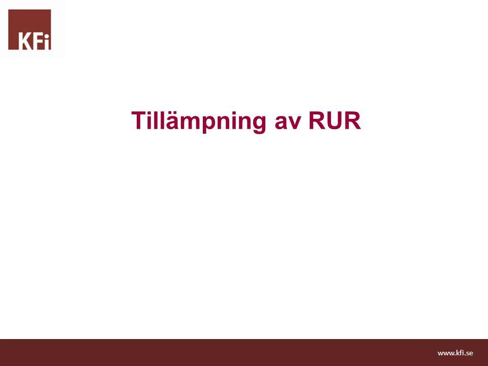 Tillämpning av RUR www.kfi.se