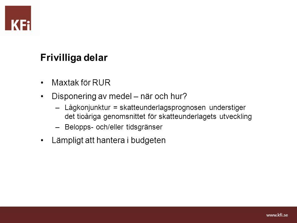 Frivilliga delar Maxtak för RUR Disponering av medel – när och hur