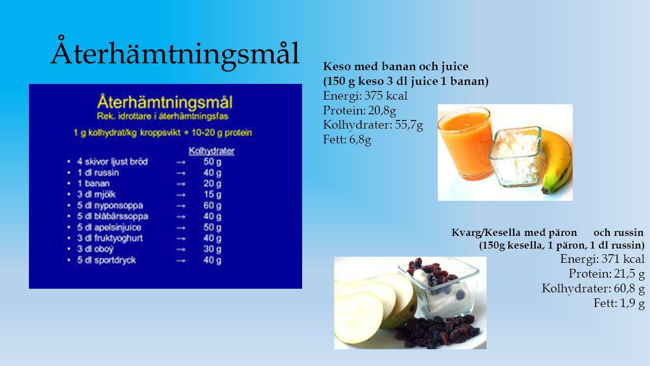 Återhämtningsmål Keso med banan och juice