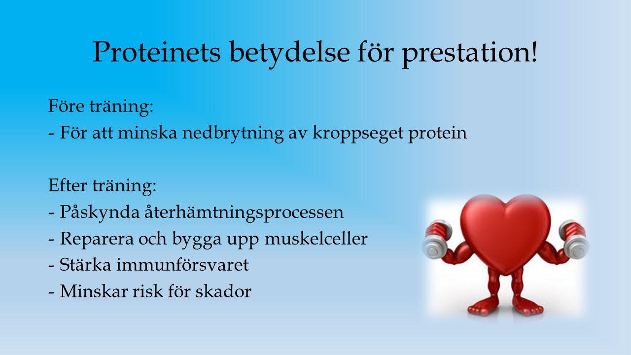 Proteinets betydelse för prestation!
