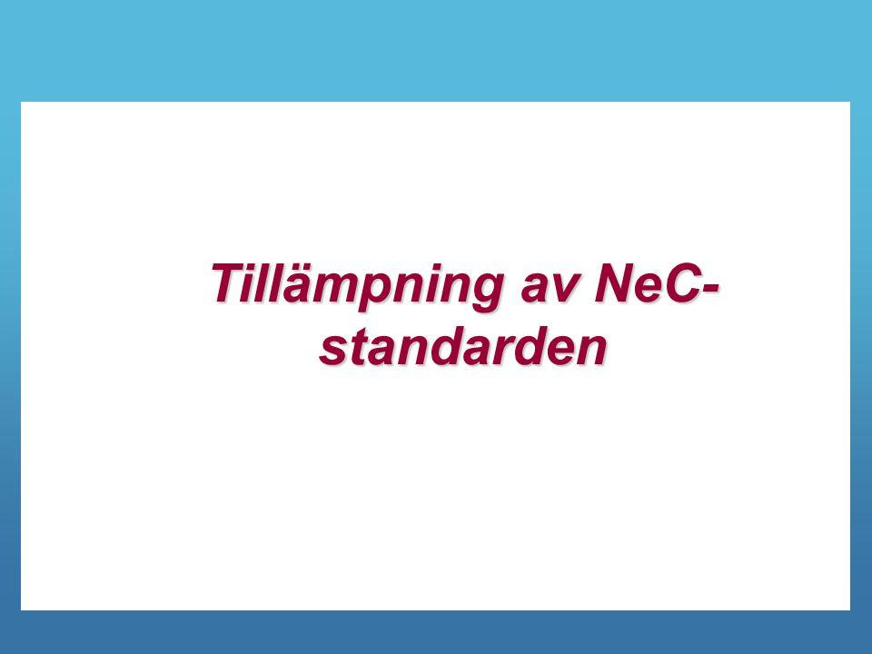 Tillämpning av NeC-standarden