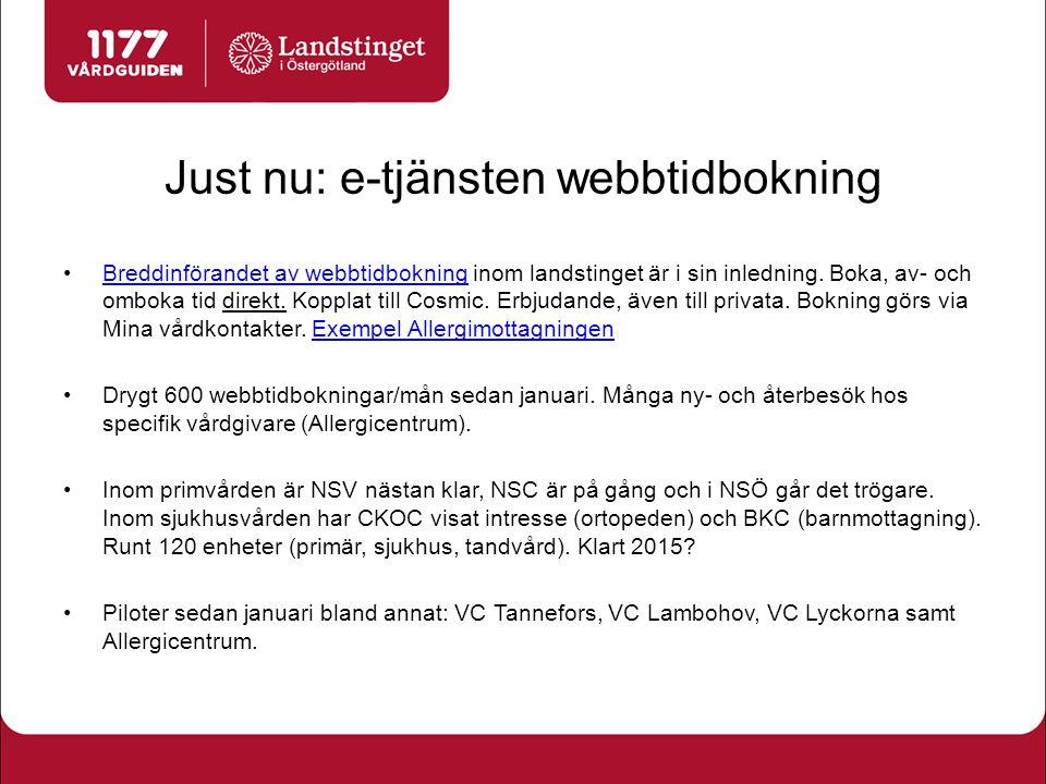 Just nu: e-tjänsten webbtidbokning