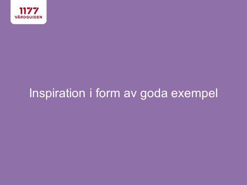 Inspiration i form av goda exempel