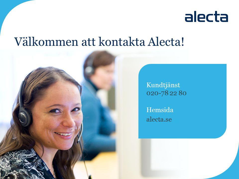 Välkommen att kontakta Alecta!