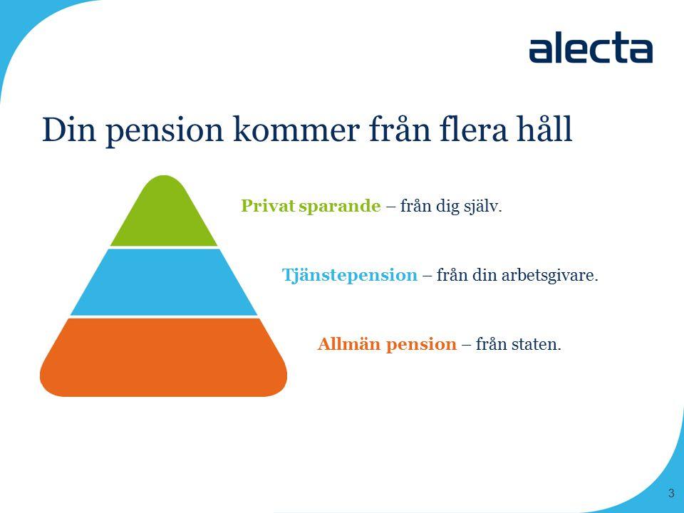 Din pension kommer från flera håll