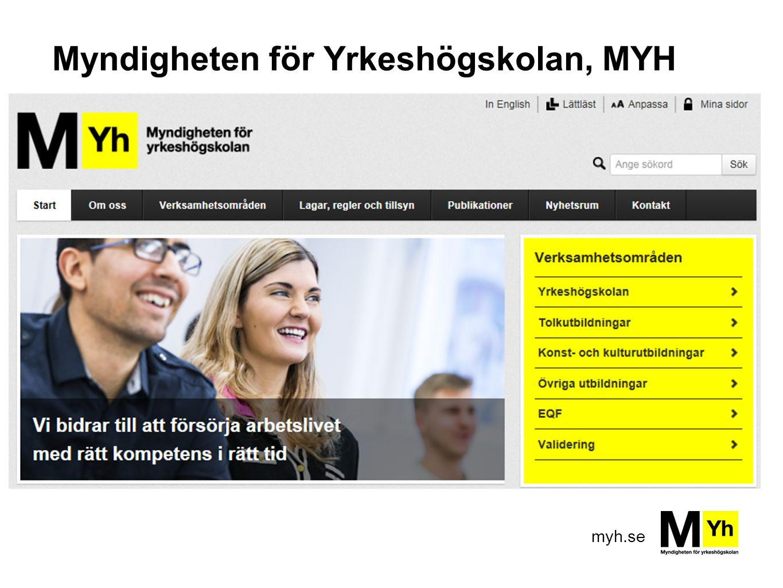 Myndigheten för Yrkeshögskolan, MYH