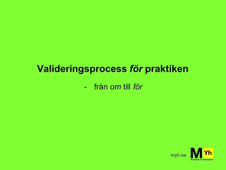 Valideringsprocess för praktiken