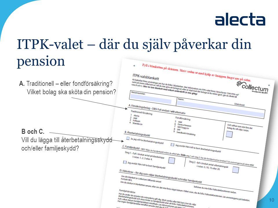 ITPK-valet – där du själv påverkar din pension