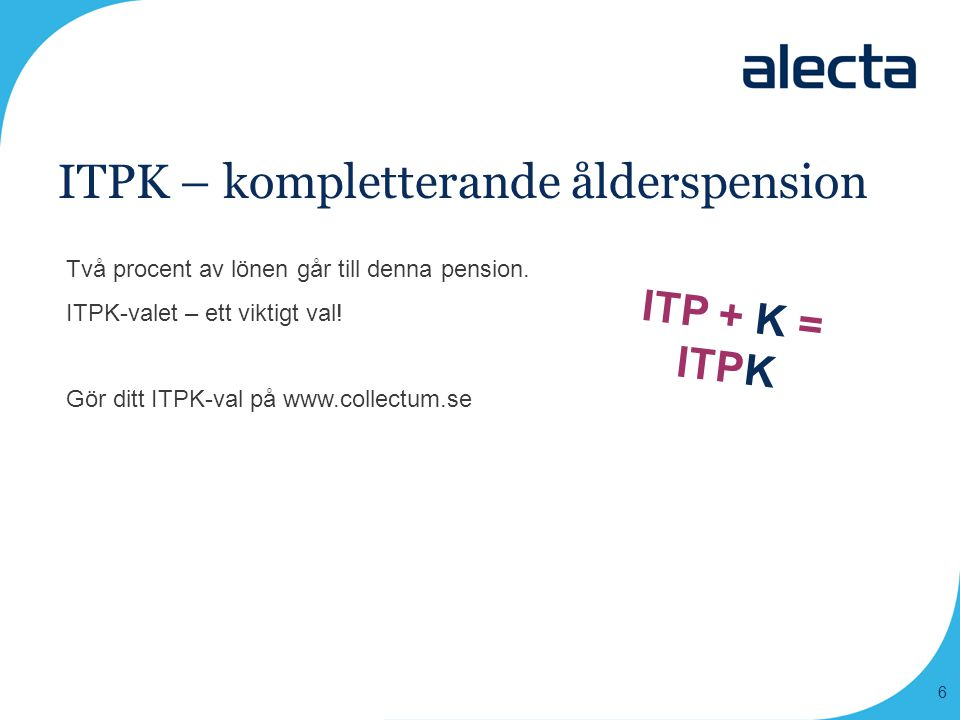 ITPK – kompletterande ålderspension