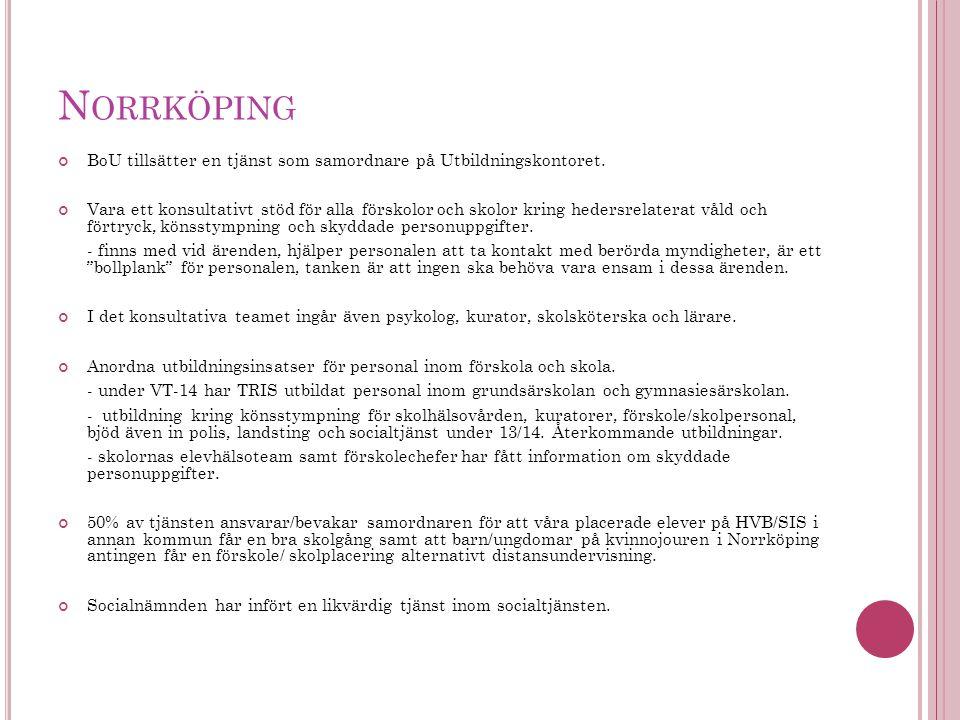Norrköping BoU tillsätter en tjänst som samordnare på Utbildningskontoret.