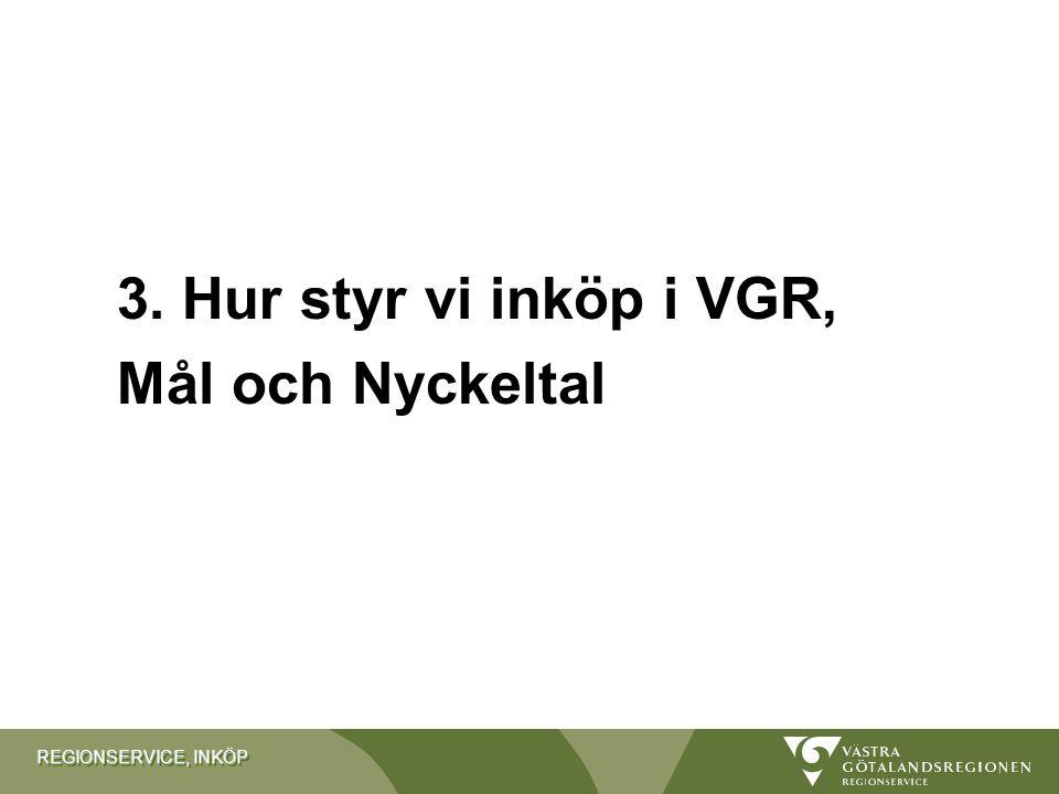 3. Hur styr vi inköp i VGR, Mål och Nyckeltal
