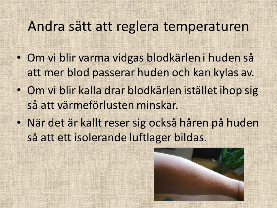 Andra sätt att reglera temperaturen