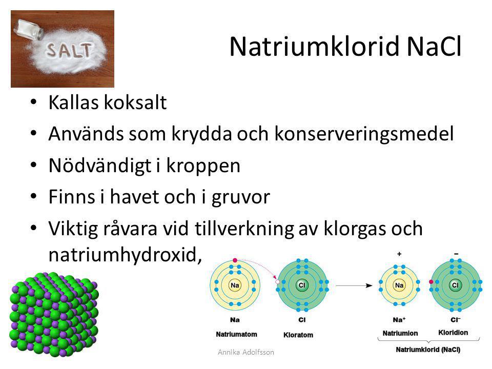 Natriumklorid NaCl Kallas koksalt