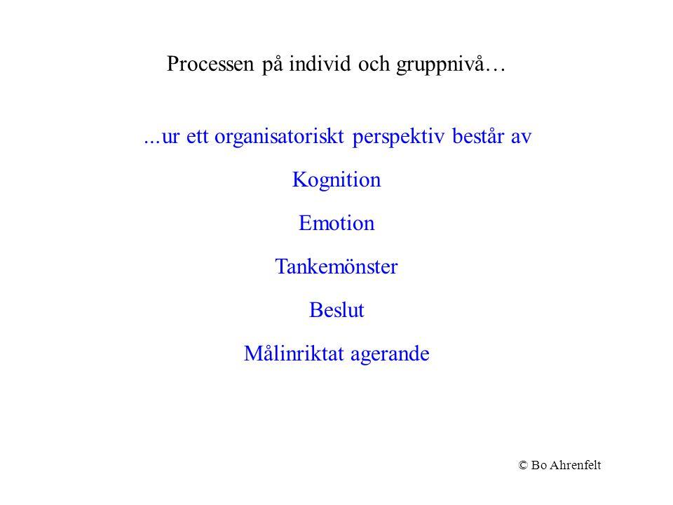 Processen på individ och gruppnivå…