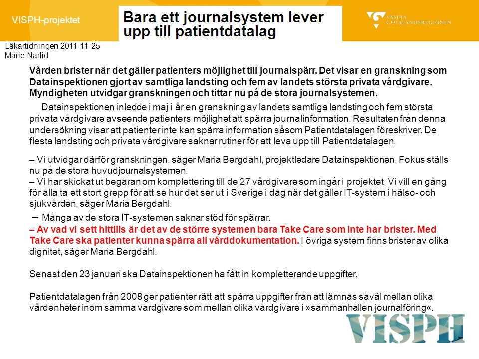 Läkartidningen 2011-11-25 Marie Närlid.