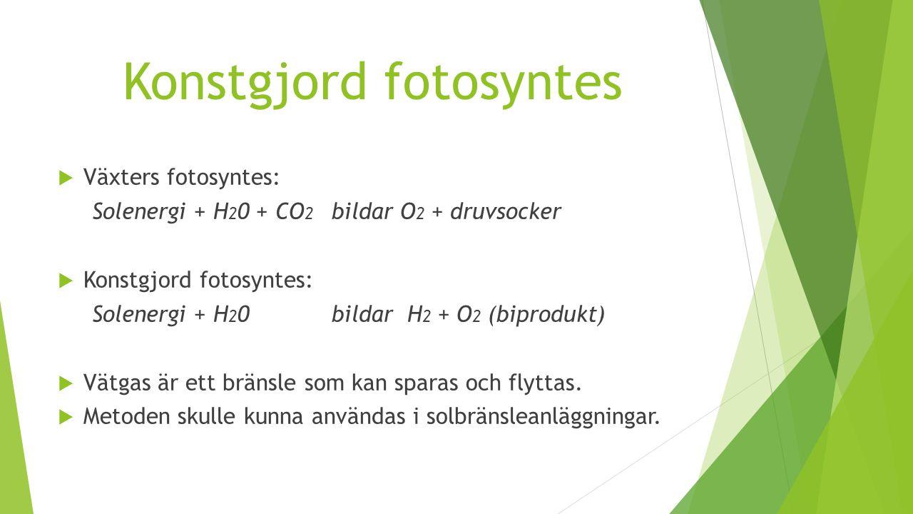 Konstgjord fotosyntes