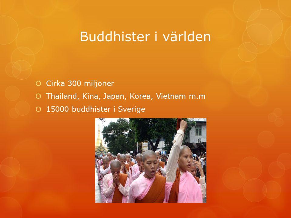 Buddhister i världen Cirka 300 miljoner