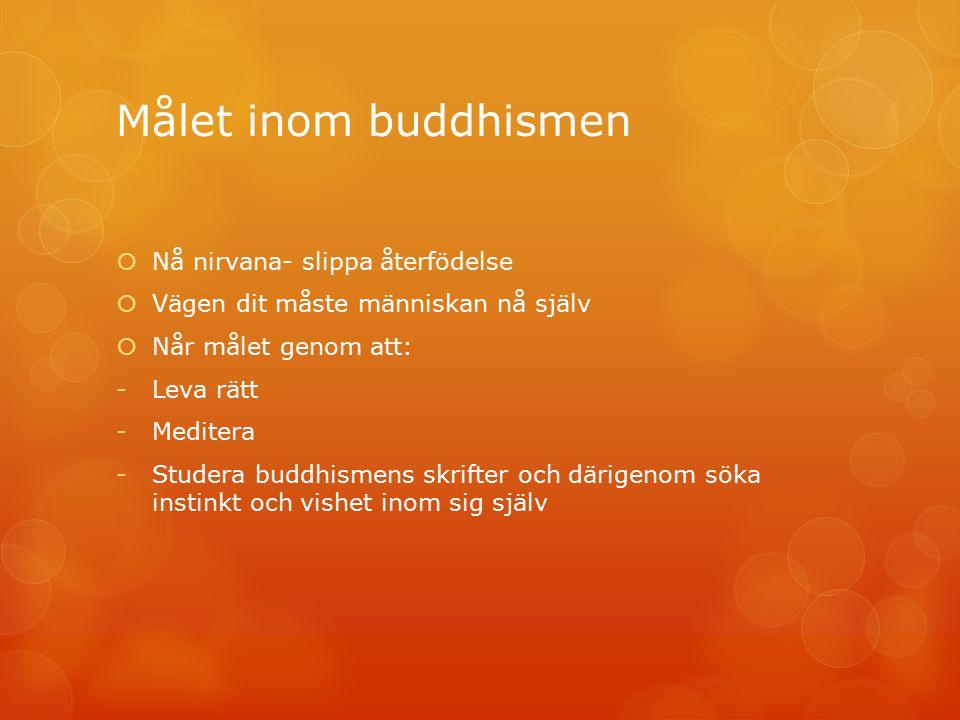 Målet inom buddhismen Nå nirvana- slippa återfödelse