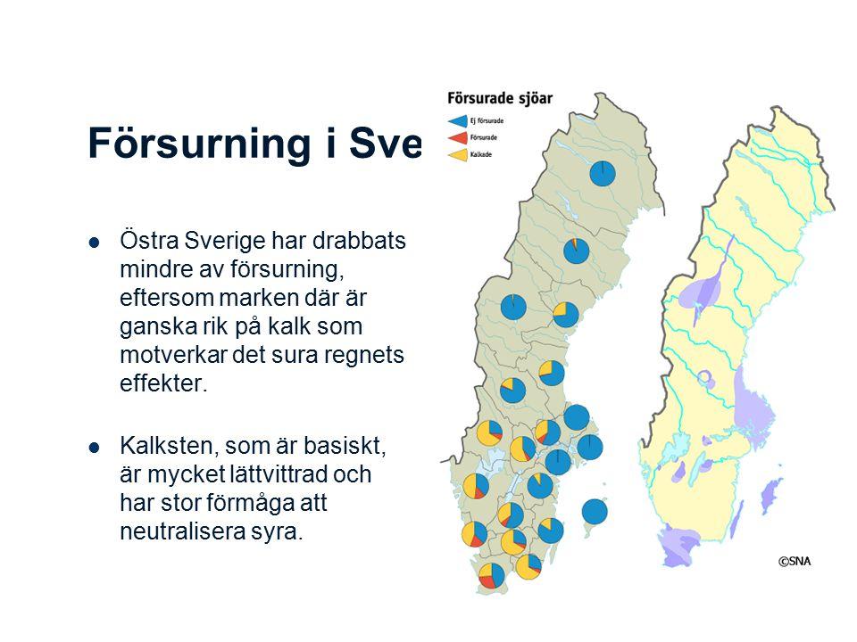 Försurning i Sverige